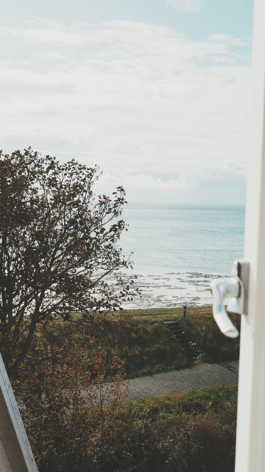 Het uitzicht vanuit de Loods Logement