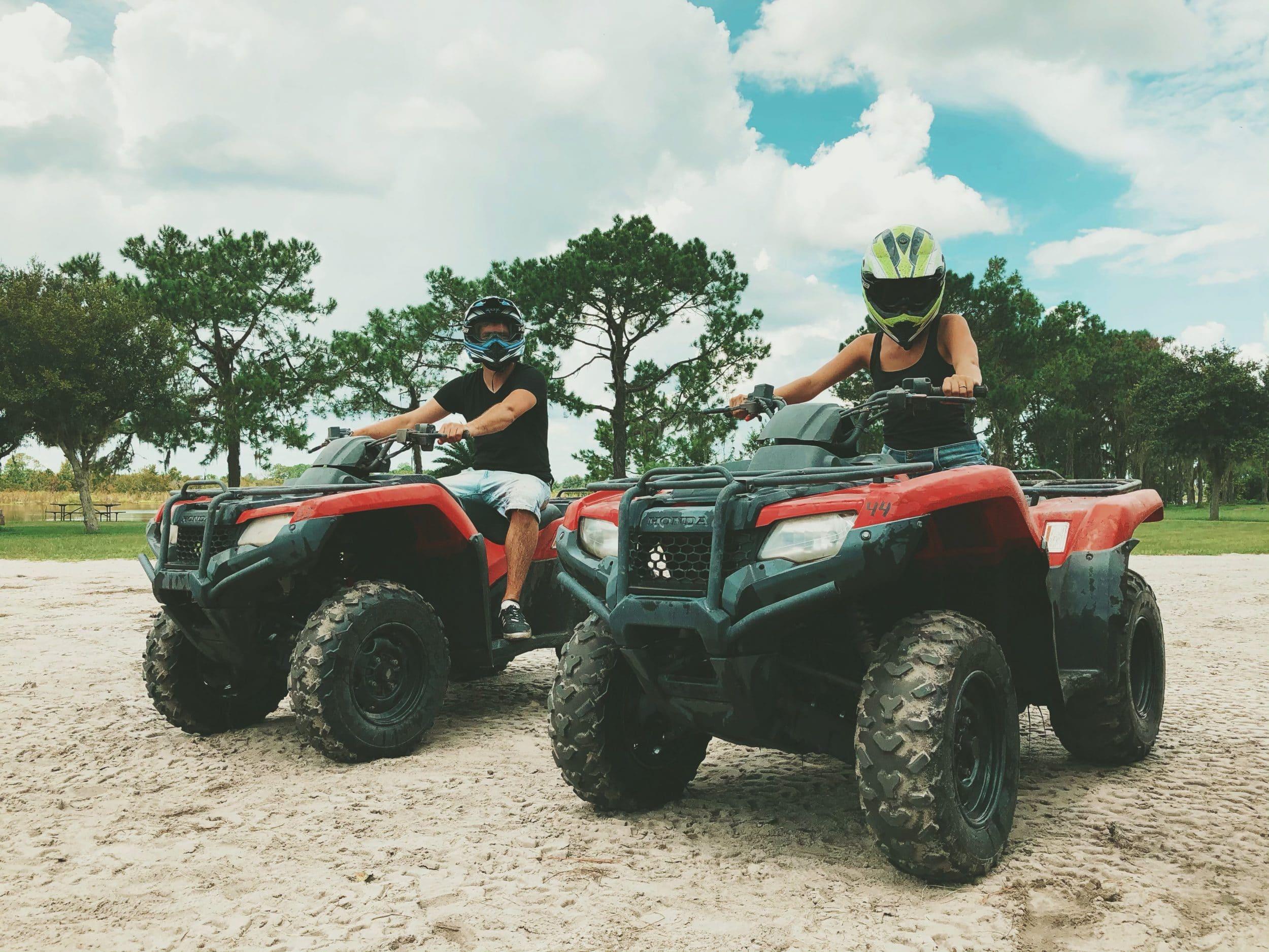 quad rijden op vakantie
